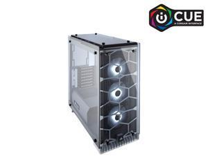 CORSAIR Crystal 570X RGB Tempered Glass, Premium ATX Mid Tower Case, White, CC-9011110-WW
