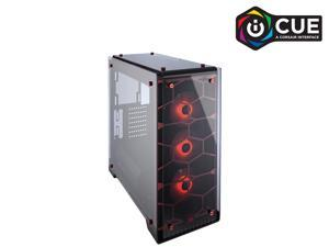 Corsair Crystal 570X RGB CC-9011111-WW Red Steel / Tempered Glass ATX Mid Tower Computer Case
