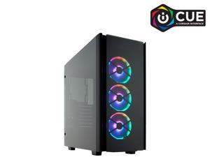 CORSAIR Obsidian Series 500D RGB SE Mid Tower Case, Premium Tempered Glass and Aluminum, LL120 Fans and Commander PRO Included, CC-9011139-WW