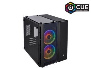 Corsair Crystal Series 280X RGB CC-9011135-WW Black Steel / Plastic / Tempered Glass Micro-ATX Case Computer Case