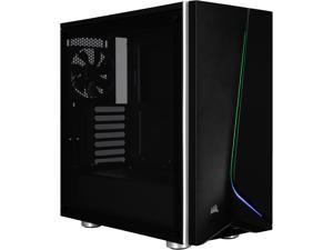 Corsair Carbide Series SPEC-06 RGB CC-9011146-WW Black Steel / Plastic / Tempered Glass ATX Mid Tower Computer Case