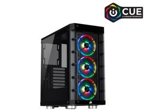 Corsair Crystal iCUE 465X RGB CC-9011188-WW Black Steel / Plastic / Tempered Glass ATX Mid Tower Computer Case