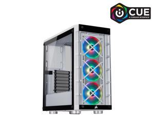 Corsair Crystal iCUE 465X RGB CC-9011189-WW White Steel / Plastic / Tempered Glass ATX Mid Tower Computer Case