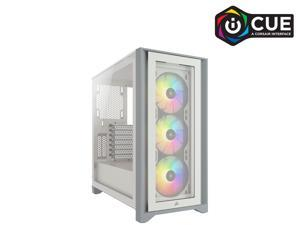 Corsair iCUE 4000X RGB CC-9011205-WW White Steel / Plastic / Tempered Glass ATX Mid Tower Computer Case