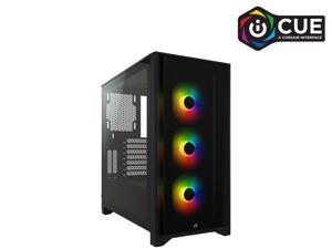 Corsair iCUE 4000X RGB CC-9011204-WW Black Steel / Plastic / Tempered Glass ATX Mid Tower Computer Case