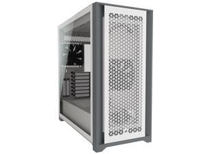 Corsair 5000D Airflow Tempered Glass Mid-Tower ATX PC Case, White, CC-9011211-WW