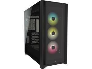 Corsair iCUE 5000X RGB Tempered Glass Mid-Tower ATX PC Smart Case, Black, CC-9011212-WW