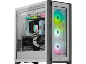 CORSAIR iCUE 5000X RGB Tempered Glass Mid-Tower ATX PC Smart Case, White, CC-9011213-WW