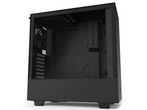 NZXT H510 - Compact ATX Mid-Tower PC Gaming Case - Front I/O USB Type-C Port - Tempered Glass Side Panel - Cable Management System - Water-Cooling Ready - Steel Construction - Black