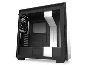 NZXT H710 - ATX Mid Tower PC Gaming Case - Front I/O USB Type-C Port - Quick-Release Tempered Glass Side Panel - Cable Management System - Water-Cooling Ready - Steel Construction - White/Black