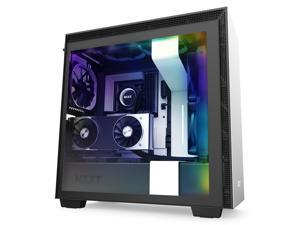 NZXT H710i - ATX Mid Tower PC Gaming Case - Front I/O USB Type-C Port - Quick-Release Tempered Glass Side Panel - Vertical GPU Mount - Integrated RGB Lighting - Water-Cooling Ready - White/Black
