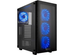 Rosewill ATX Mid Tower Gaming PC Computer Case with Blue LED Fans, Tempered Glass/Steel, Optimal Airflow, USB 3.0 - CULLINAN ...