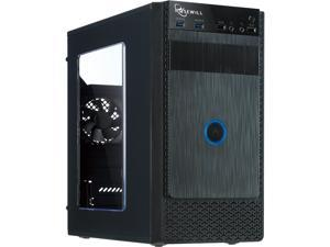 Rosewill FBM-X1 Black Steel / Plastic Mini Tower Case with Side Panel Window