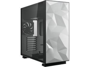 Rosewill ATX Mid Tower Gaming PC Computer Case with 2 x 120mm Fans (Supports up to 6), 240mm AIO Support, EATX Support, Top Mount PSU & HDD/SSD, Tempered Glass & White Steel - PRISM S-LITE