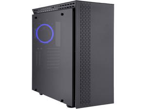 Rosewill PRISM T ATX Mid Tower Gaming PC Computer Case with Tempered Glass, 4 Pre-Installed 120mm Fans, 420mm / 360mm / 240mm Radiator Support, EATX Support, Bottom Mount PSU Shroud and HDD / SSD