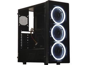 RAIDMAX NEON LED G21-LWB Black Computer Case