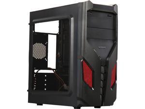 RAIDMAX EXO ATX-108BR Black / Red Steel / Plastic ATX Mid Tower Computer Case