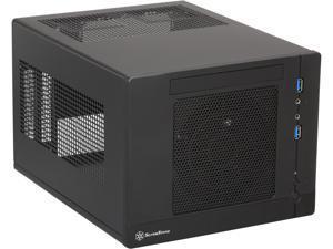 SilverStone Sugo Series SG05BB-LITE Black SECC / Plastic Mini-ITX Desktop Computer Case with 2 x USB3.0 ports (Black)