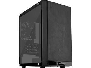 SilverStone Precision Series PS15 SST-PS15B-G Black Steel / Plastic / Tempered Glass Micro ATX Tower Computer Case