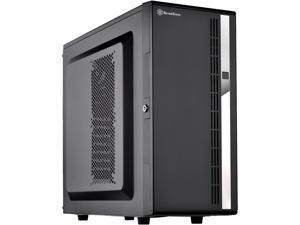 SilverStone Case Storage Series SST-CS380 Black Plastic front door, steel body ATX Mid Tower Computer Case Standard PS2(ATX) Power Supply