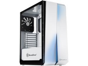SilverStone Redline Series RL07 SST-RL07W-G White Steel front panel, Steel body, Tempered glass side panel ATX Mid Tower Computer Case