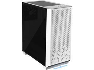 SilverStone Primera Series PM02 SST-PM02W-G White Steel Front Panel, Steel Body, Tempered Glass Window ATX Mid Tower Computer Case Compatible PS2(ATX) Power Supply