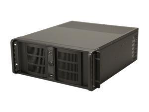 iStarUSA D-400-6-Black Black Steel 4U Rackmount Compact Stylish Server Chassis