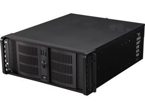 iStarUSA D-400-6 Black Aluminum / Steel 4U Rackmount Compact Stylish Chassis