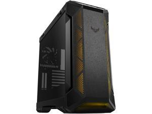 ASUS TUF Gaming GT501 Mid-Tower Computer Case for up to EATX Motherboards with USB 3.0 Front Panel, Smoked Tempered Glass, Steel Construction, and Four Case Fans (GT501/GRY/WITH HANDLE)