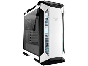 ASUS TUF Gaming GT501 White Edition Mid-Tower Computer Case for up to EATX Motherboards with 2 x USB 3.1 Front Panel, Smoked Tempered Glass, Steel Construction, and Four Case Fans