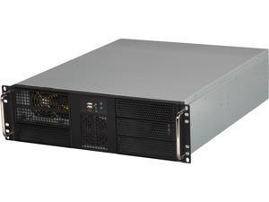 """Athena Power RM-3U3046X708 3U Black Rackmount EATX Chassis 4 x 5.25"""" Drive Bays 700W 80 PLUS BRONZE - Retail"""