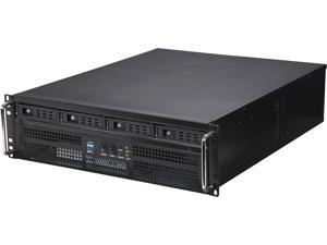 Athena Power RM-3U8G1043 Black SGCC (T=1.2mm) 3U Rackmount Server Case