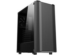Sama S35-BK Black Dual USB 3.0 ATX Mid Tower Computer Case with 1 x 120mm Fan x Rear Pre-installed