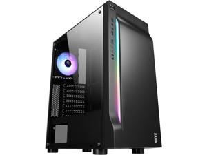 SAMA Sama-Line-ARGB Black Steel / Tempered Glass ATX Mid Tower Computer Case