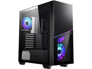 MSI MPG SEKIRA 100R Black Steel / Plastic / Tempered Glass ATX Mid Tower Gaming Case with 4 x 120mm ARGB Fan Pre-installed