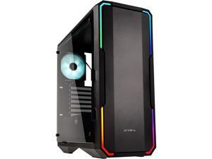 BitFenix Enso Case Black, Tempered Glass Window Side Panel, ATX/Micro ATX/Mini ITX Form Factor, Asus AURA SYNC 3 pin Addressable RGB LED, ATX PSU Compatible BFC-ENS-150-KKWGK-RP