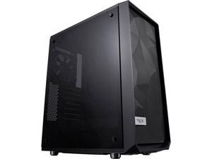 Fractal Design Meshify C Black ATX High-Airflow Compact Dark Tint Tempered Glass Window Mid Tower Computer Case