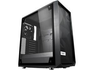 Fractal Design Meshify C Black ATX High-Airflow Compact Light Tint Tempered Glass Mid Tower Computer Case, FD-CA-MESH-C-BKO-TGL