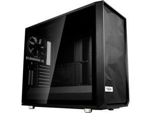 Fractal Design Meshify S2 Black ATX Modular High-Airflow Dark Tint Tempered Glass Window Mid Tower Computer Case, FD-CA-MESH-S2-BKO-TG