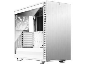 Fractal Design Define 7 White Brushed Aluminum / Steel E-ATX Silent Modular Tempered Glass Window Mid Tower Computer Case