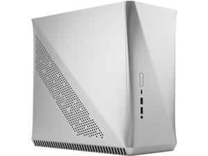 Fractal Design Era ITX Silver Anodized Aluminum/Steel Mini-ITX Compact Modular Small Form Factor Computer Case with White Oak Top Panel