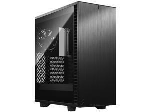 Fractal Design Define 7 Compact Black Brushed Aluminum/Steel ATX Compact Silent Dark Tinted Tempered Glass Window Mid Tower Computer Case