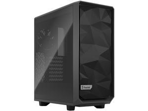 Fractal Design Meshify 2 Compact Gray ATX Flexible High-Airflow Light Tinted Tempered Glass Window Mid Tower Computer Case, FD-C-MES2C-04