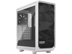 Fractal Design Meshify 2 Compact White ATX Flexible High-Airflow Tempered Glass Window Mid Tower Computer Case, FD-C-MES2C-05
