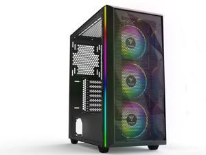 Gamdias ATHENA M2 Black Steel / Plastic / Tempered Glass ATX Mid Tower Computer Case