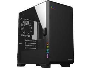 Gamdias MARS M2 Black SPCC, ABS, Tempered Glass, Steel Micro-Tower Computer Case