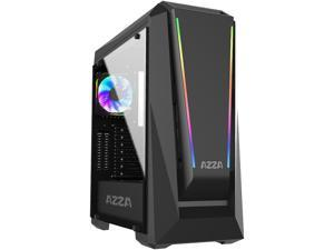 AZZA Chroma 410A CSAZ-410A Black Steel / Tempered Glass ATX Mid Tower Computer Case