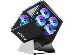 AZZA Cube 802 CSAZ-802 Black SPCC ATX Cube Case Computer Case