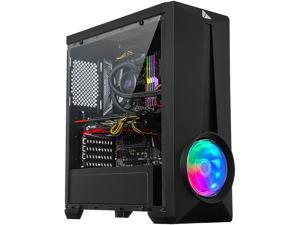 AZZA ARC 241 CSAZ-241G Black ATX Mid Tower Tempered Glass Computer Case
