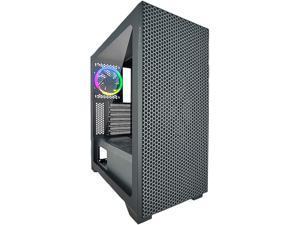 AZZA HIVE 450 CSAZ-450 Black Steel / Plastic / Tempered Glass ATX Mid Tower Computer Case